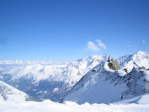 Mountain summits. Summits in the swiss mountains with blue sky Royalty Free Stock Photography