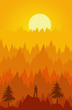 Mountain sun Royalty Free Stock Photography