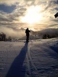 Mountain sun appearance Stock Photo