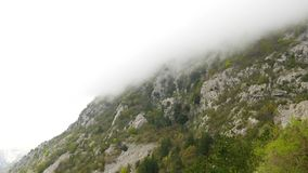 Mountain sun day in Montenegro stock video