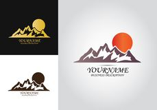 Mountain Sun Design Logo royalty free illustration