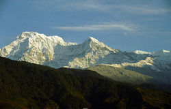 Mountain in sunlight Royalty Free Stock Photos