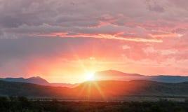 Mountain sunlight Stock Photos