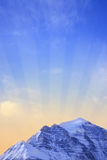 Mountain sunrise Stock Images