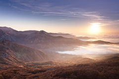 Mountain sunrise Royalty Free Stock Images