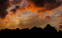Mountain at sunrise. Image of mountain at sunrise royalty free stock photography