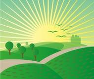 Mountain sunrise landscape background Stock Images
