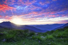 Mountain sunrise landscape Stock Image