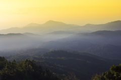 Mountain Sunrise Light view Stock Photography