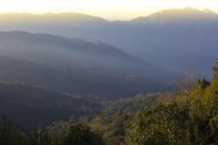 Mountain Sunrise Light view Royalty Free Stock Photos