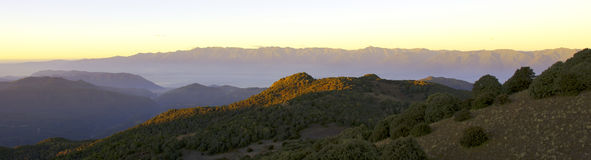 Mountain Sunrise Panorama Royalty Free Stock Photos