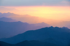 Mountain sunrise Royalty Free Stock Photography