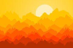 Mountain sunrise Stock Photography