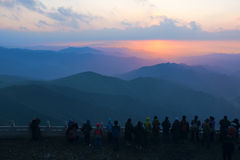 Mountain sunrise Stock Photography