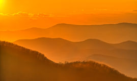 Mountain Sunset Stock Photography