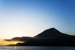 Mountain at sunset Stock Photos