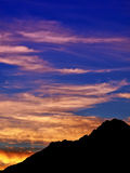 Mountain sunset. A shot of the Italian Alps at dusk Royalty Free Stock Photo