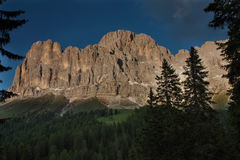 Mountain sunset. Beautiful sunset on italians dolomiti Royalty Free Stock Images