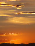Mountain Sunset. Sunset in the desert Southwest over the Colorado Rocky Mountains royalty free stock photography