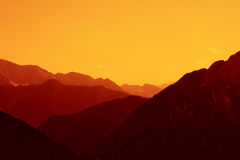 Mountain Sunset Royalty Free Stock Image