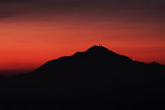 Mountain in Sunset royalty free stock photos