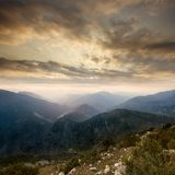 Mountain Sunset Royalty Free Stock Images