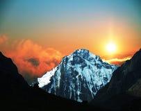 Mountain on sunset Royalty Free Stock Photo