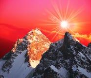 Mountain on sunset Royalty Free Stock Image