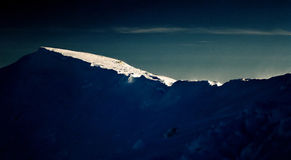 Mountain sunset. Mountain landscape on sunset from Piatra Craiului royalty free stock photo