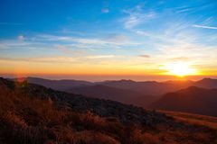 Mountain sunset autumn Royalty Free Stock Photo