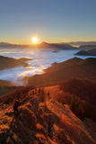 Mountain sunset autumn landscape in Slovakia Stock Image