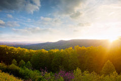 Mountain sunset. Royalty Free Stock Photos