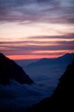Mountain sunset in the Himalaya Stock Images