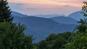 Mountain Sunset Landscape Royalty Free Stock Image
