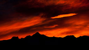 Mountain sunset, Madesimo, Italy Royalty Free Stock Photography