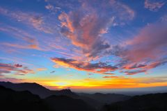Mountain sunset. In the Hsinchu,Taiwan Stock Images