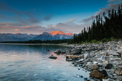 Mountain Sunset stock images