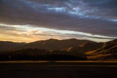 Mountain Sunset Panorama Stock Photography
