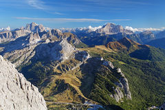 Mountain sunset panorama landscape - Dolomites Stock Photo