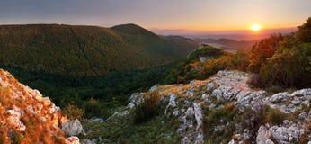 Mountain sunset panorama in Slovakia Stock Photography