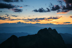 Mountain sunset sky Royalty Free Stock Images