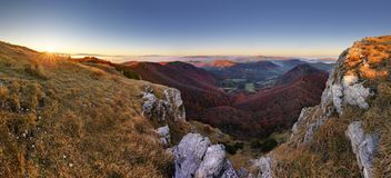 Mountain at sunset in Slovakia Stock Photos
