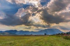 Mountain sunset Royalty Free Stock Image
