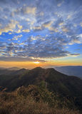 Mountain sunset time Royalty Free Stock Images