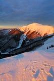 Mountain sunset Stock Photos