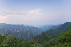 Mountain sunset in Zhangjiajie, China. Royalty Free Stock Photography