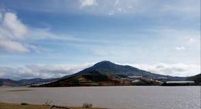 Mountain in Suoi Vang Lake royalty free stock photography