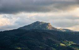 A Mountain Surrounded by Clouds royalty free stock photography