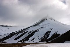 A Mountain in the Svalbard Archipelago Stock Image