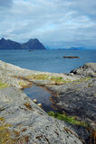 Mountain in Svolvaer, Lofoten Stock Images